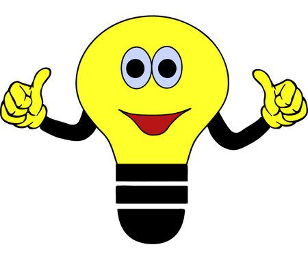 power saving lamp: yellow clip-art bulb