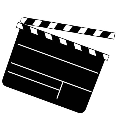 hollywood clapper board vector Stock Vector - 4851868