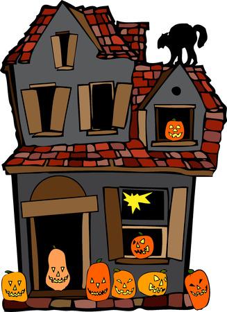 old halloween house Vector