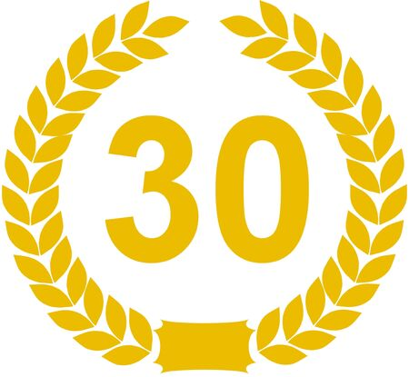 30: laurel wreath 30 years