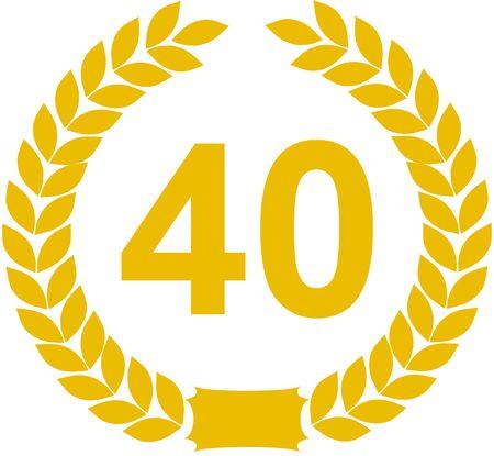 40: laurel wreath 40 years