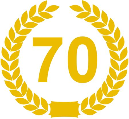 70: laurel wreath 70 years