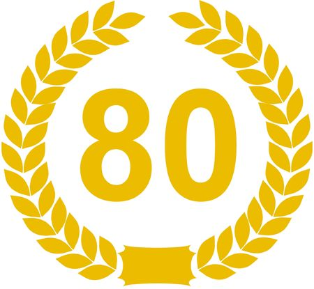 80 years: laurel wreath 80 years