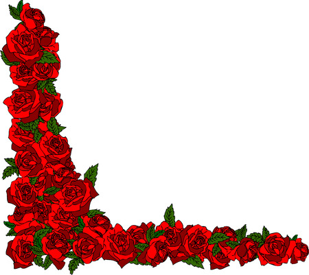 roses pattern: rose frame Illustration