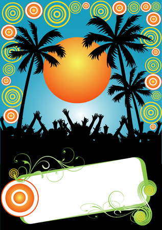 colorful party placard
