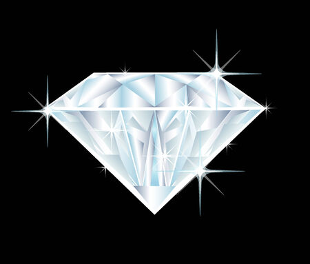 illustration of a big diamond on black background Stock Vector - 4942089