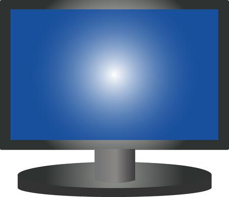 illustration of a plasma tv Stock Vector - 4942093
