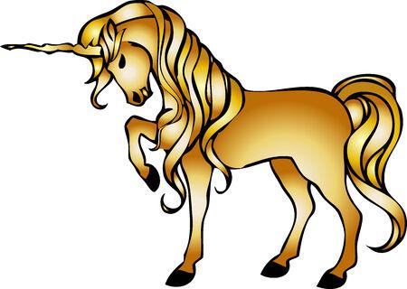 illustration of a unicorn Vector