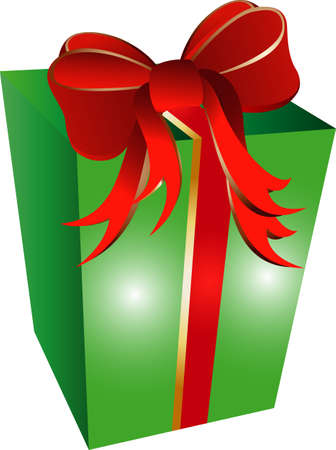 illustration of a present with red ribbon Stock Vector - 4953313