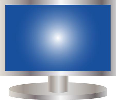 flat screen tv: ejemplo de una pantalla plana de TV
