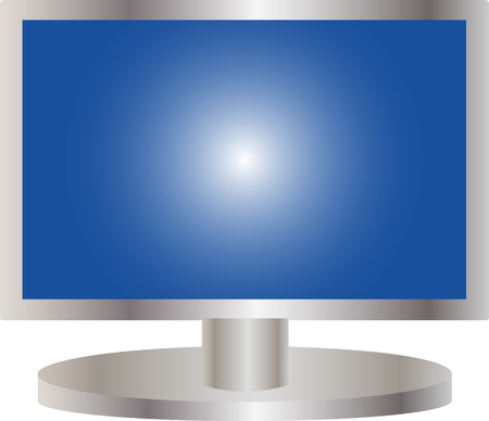 illustration of a flat screen tv Vector