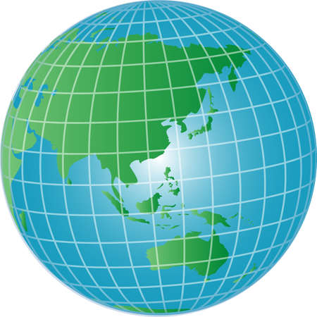 illustration of a 3d globe asia and australia Stock Illustration - 4953338