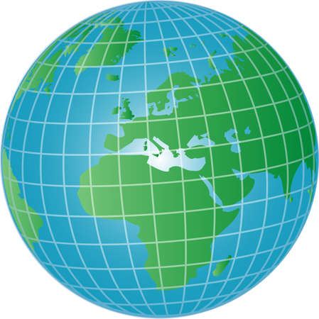 illustration of a 3d globe europe and africa Stock Illustration - 4953258