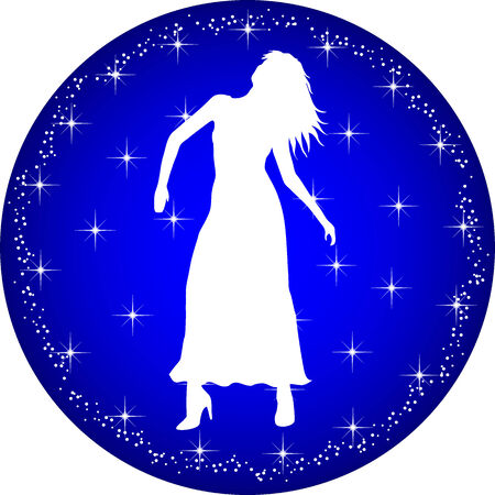 a illustration of a zodiac button virgo