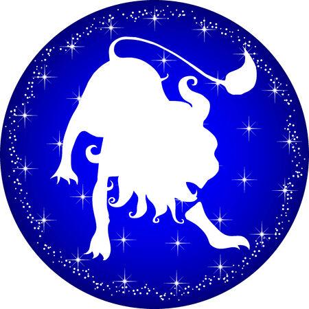 a illustration of a zodiac button leo Çizim