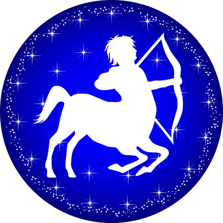 sagitario: un ejemplo de un bot�n zodiaco Sagitario Vectores