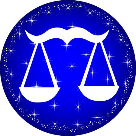 a illustration of a zodiac button libra Illustration