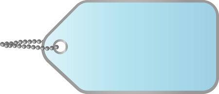 illustration of a blank blue cardboard tag Vector