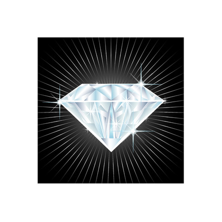 brillant: illustration of a big diamond  Illustration