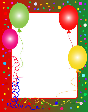 illustration of a colorful party background with balloons