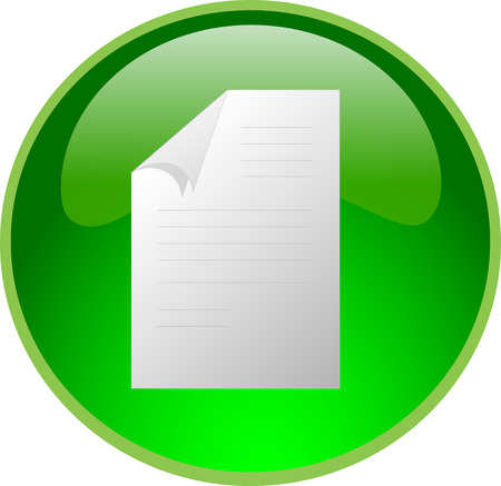 illustration of a green file button Vector
