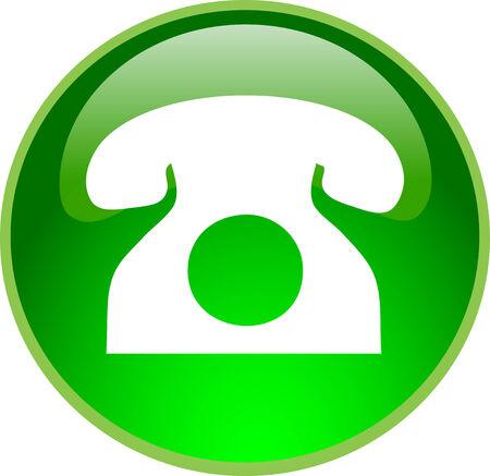 phone button: afbeelding van een knop groene telefoon Stock Illustratie
