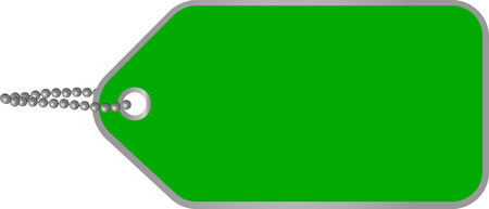 illustration of a blank green cardboard tag Vector