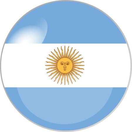 reflektion: illustration eines buttons argentinien