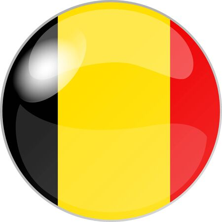 belgien: illustration eines buttons belgien Stock Photo
