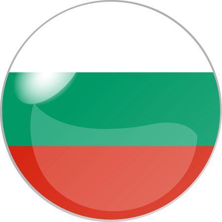 reflektion: illustration eines buttons bulgarien Stock Photo