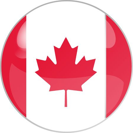 Plastik: illustration eines buttons canada