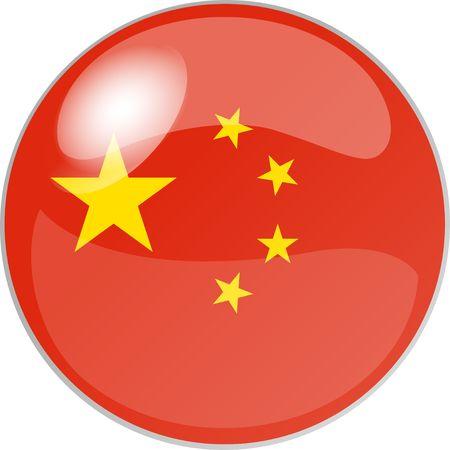 reflektion: illustration eines buttons china