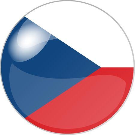 glas: illustration eines buttons czech. republik