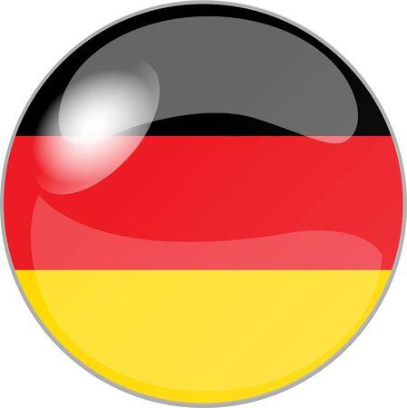 deutschland: illustration eines buttons deutschland