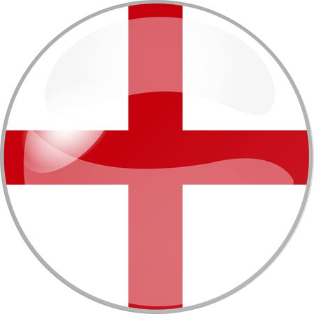 reflektion: illustration eines buttons england Stock Photo