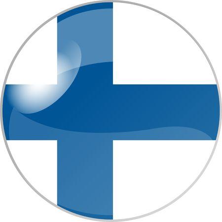 reflektion: illustration eines buttons finnland