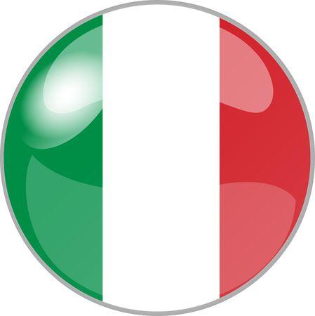 italien: illustration eines buttons italien