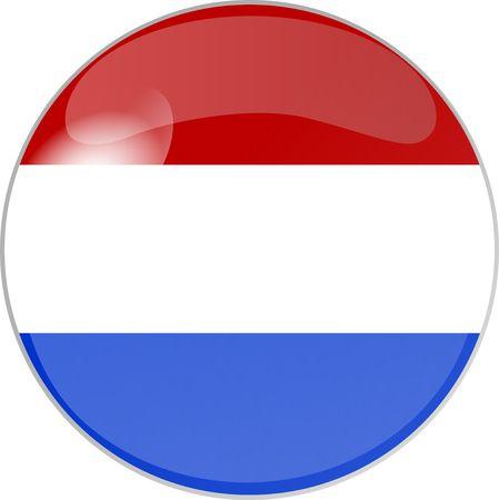 reflektion: illustration eines buttons niederlande Stock Photo