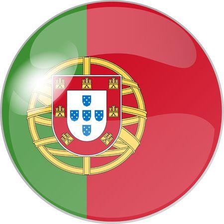 glas: illustration eines buttons portugal