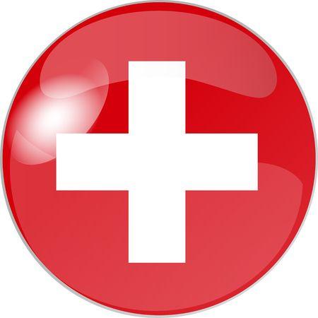 schweiz: illustration eines buttons schweiz