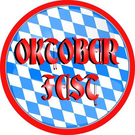 illustration of a oktoberfest button illustration