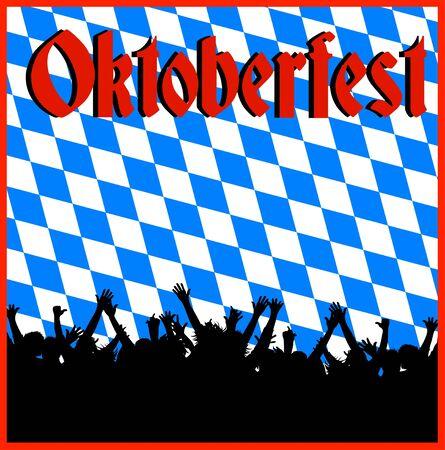 ilustración de un fondo Oktoberfest Foto de archivo
