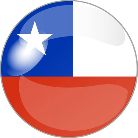 illustration of a button with flag chile illustration