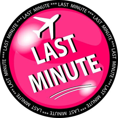 ejemplo de un botón rosa de última hora