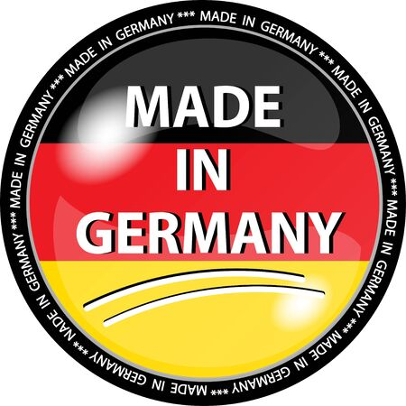 germany flag: illustration of a made in germany button Stock Photo