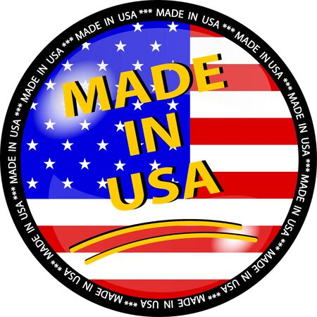 illustration of a made in usa button