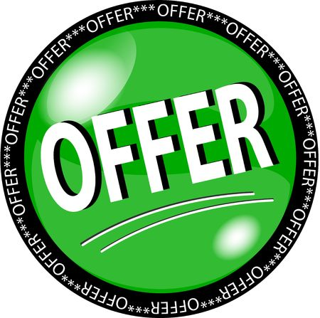 sybol: illustration of a green offer button