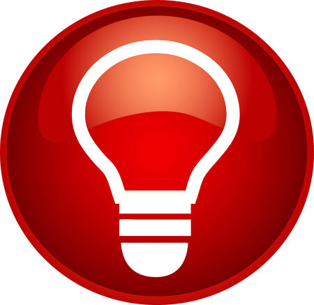 illustration of a red bulb button Vector