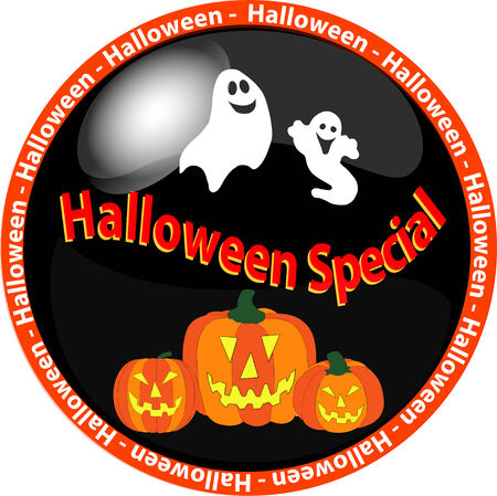 illustration of a halloween special button