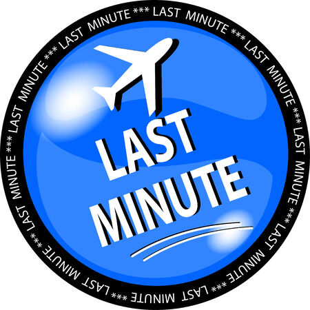 ejemplo de un botón azul de última hora